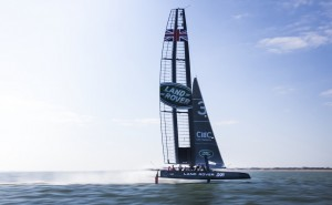 Land Rover Jumps In to Help Capture America's Cup