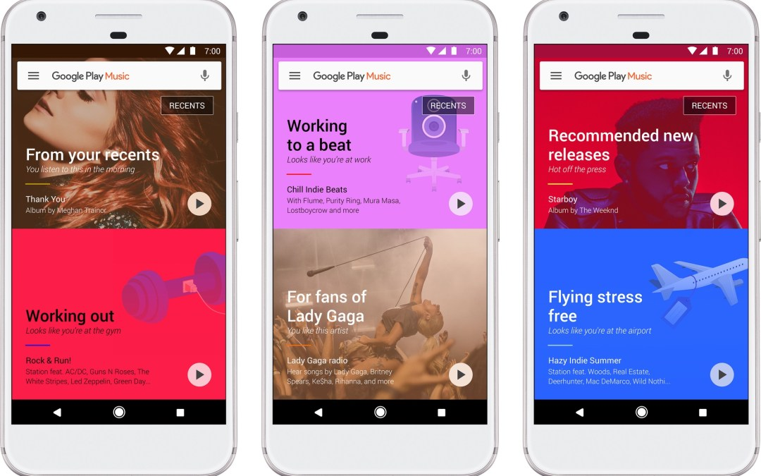 Google Play Music relaunched with machine learning, offline playlist