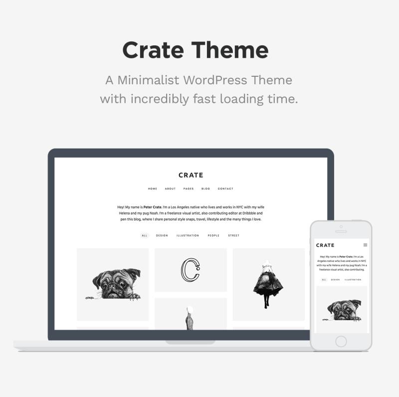 Crate - Minimalist WordPress Theme - 1