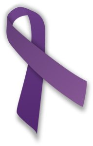 This is a purple Alzheimer's support ribbon.