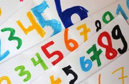 This shows numbers written in different colors.