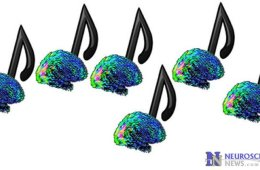 Image shows music notes made out of brains.