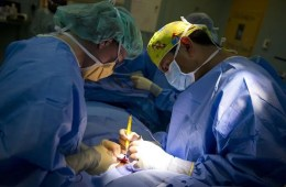Photo of a surgical team.