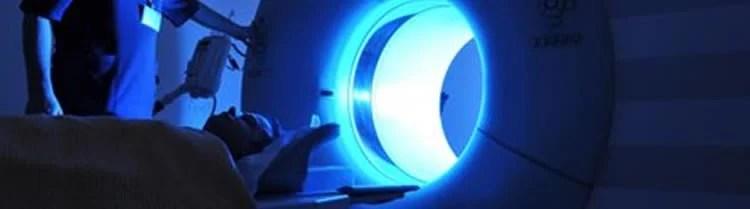 Image shows an MRI machine.