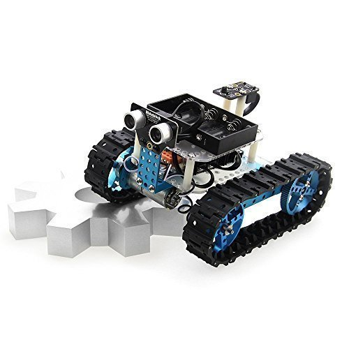 Makeblock Educational Starter Robot Build Kit Aluminum Frame Blue for  Arduino Learners (IR Version)