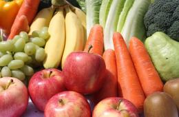 Image shows fruits and veggies.