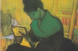 Woman Reading a Novel, by Vincent Van Gogh, 1888.