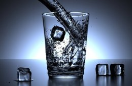 Image shows a glass of water.