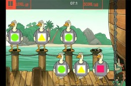 Image shows a still from a brain training game.
