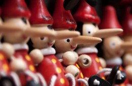 Image shows man Pinocchio.
