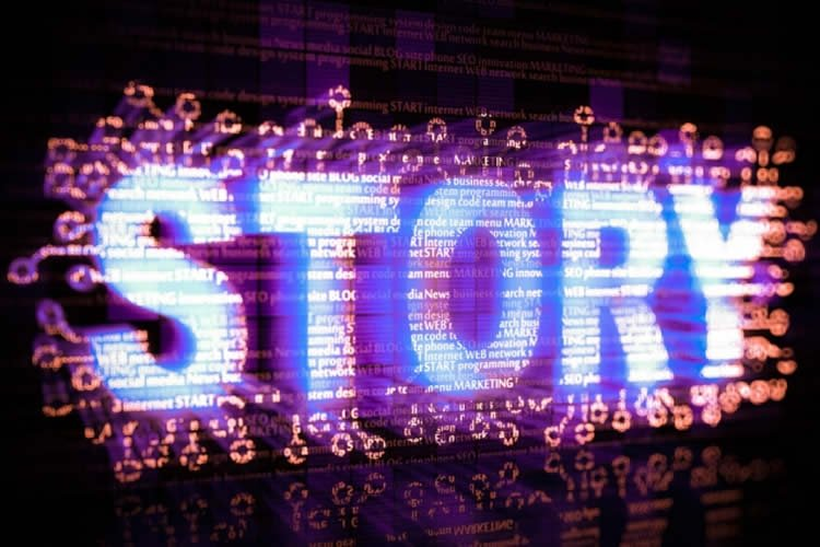 Image shows the word story.