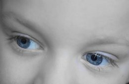 Image shows a child's eyes.