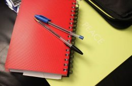 Image shows a note book.