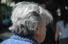 Image shows an older lady.