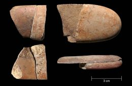 Image shows broken stone tools.