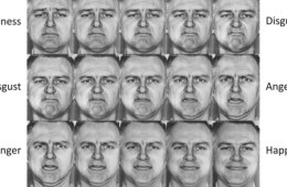 Image shows a man expressing different facial expressions from anger to sadness.