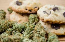 Image shows marijuana and cookies.