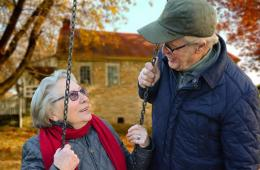 Image shows an older couple.