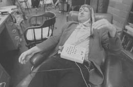 Image shows a person using the Encephalophone.