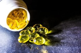 Image shows fish oil pills.