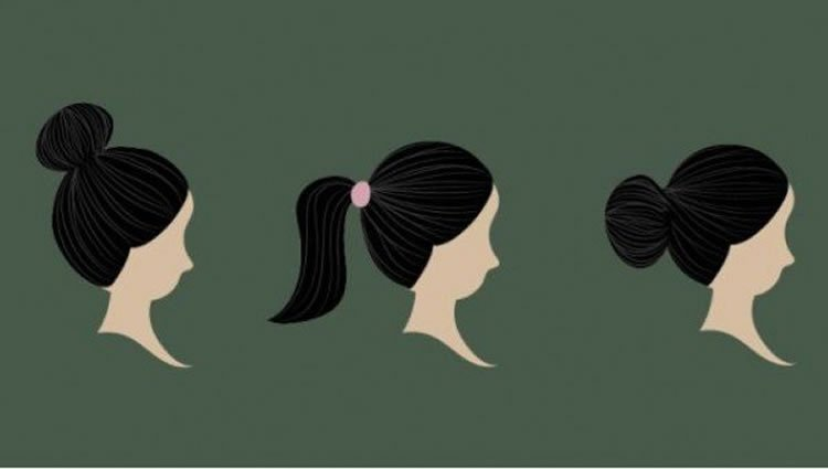 Image shows images of ponytails.