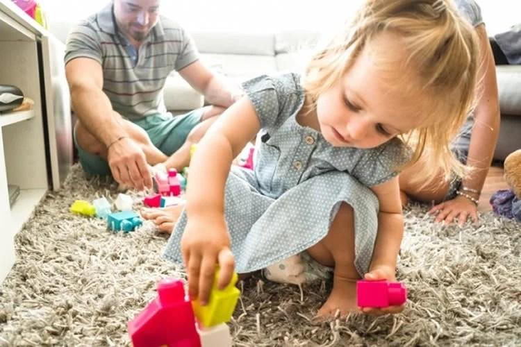 a little girl is shown