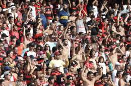 Image shows football supporters.