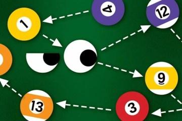 Image shows pool balls.