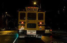 Image shows a school bus.