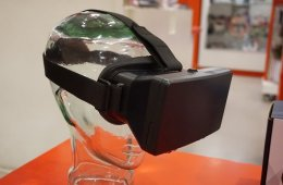 Image shows a pair of virtual reality glasses.