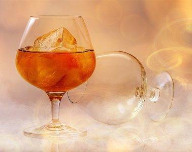 brandy glasses are shown