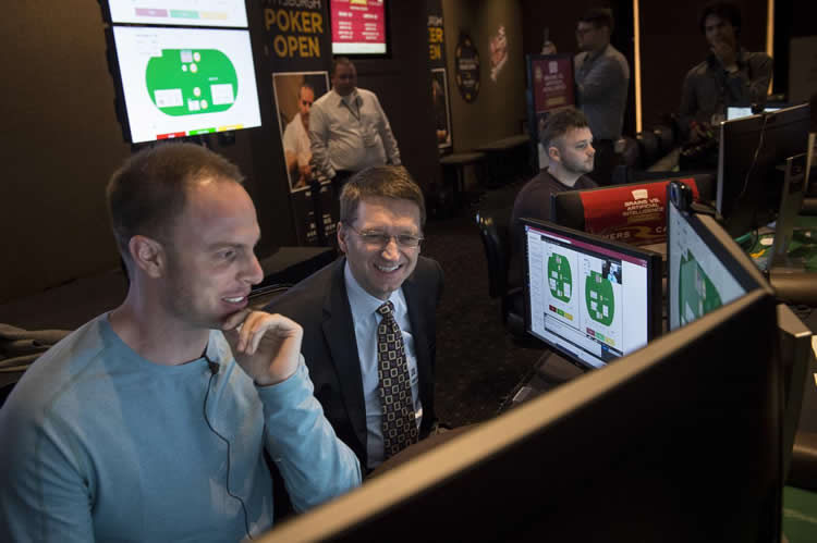 Image shows a person playing against the AI.