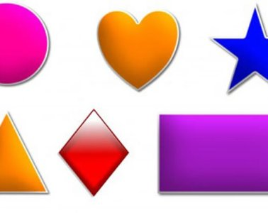 different colored shapes