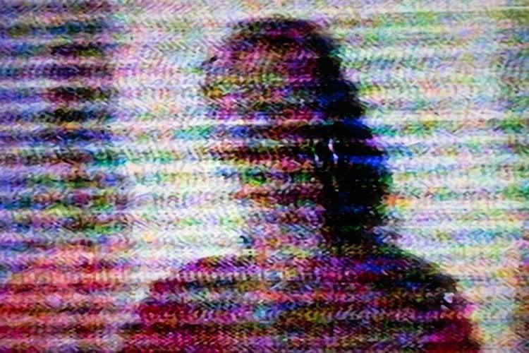 a blurry woman