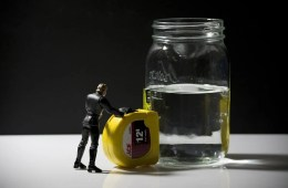 Image shows a half empty/half full jar.