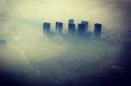 smoggy city