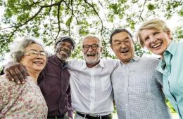 older people in a group