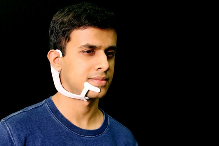 person in headset