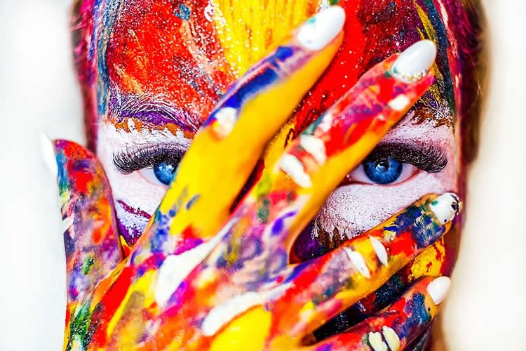 woman in face paint