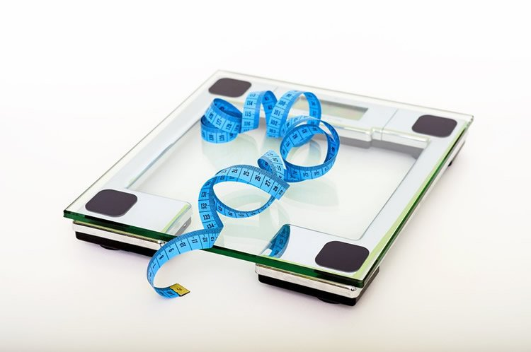 a scales and tape measure