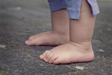 barefoot child