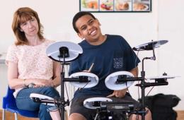 a child drumming