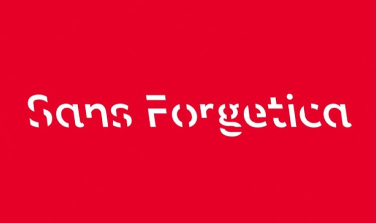 the Sans Forgetica font