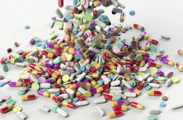 This image shows a lot of brightly colored pills