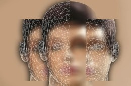 This is a computerized version of a woman's face