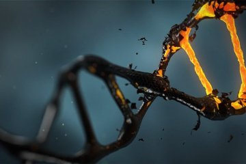 This shows a dirty DNA double helix