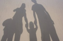 This shows the shadow of a family