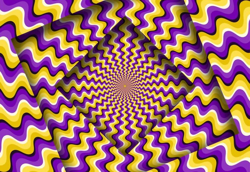This shows a queezy optical illusion