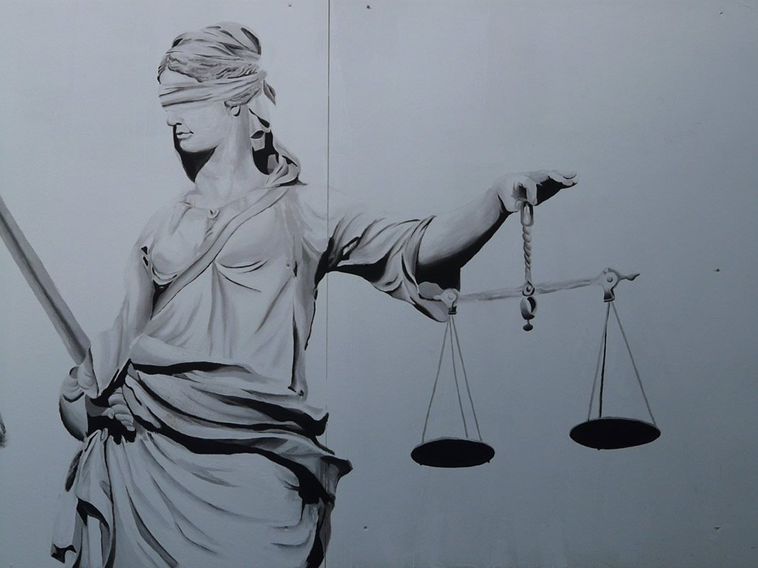 This shows Lady Justice