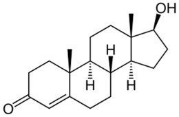 This shows the chemical model of testosterone